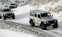 Super Jeep Winter-Tour: Defender Konvoi