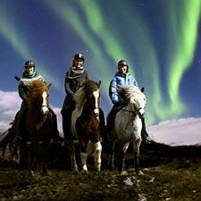 Reiter-Gruppe und Polarlichter