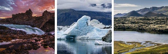 Islandreise Geitafoss Jökulsárlón Berserkjahraun