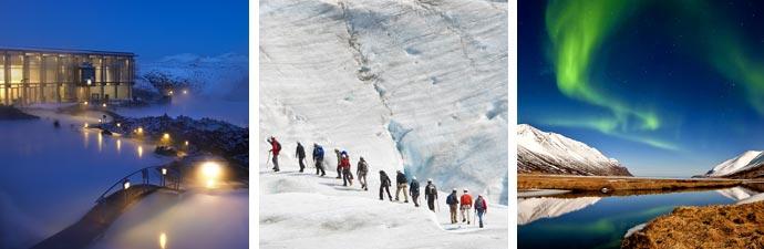 Blaue Lagune Gletscherwanderung Polarlichter