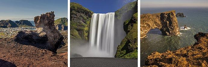 Island Islandreisen Westmännerinseln Skogafoss