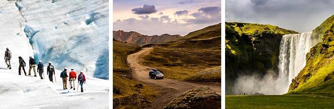 Islandreisen Gletscherwanderung Offraod Skogafoss